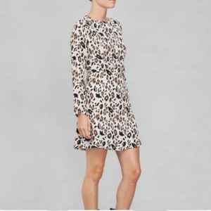 & other stories black and cream leopard dress